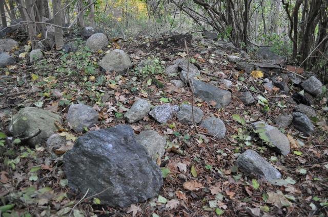 Mindre nogräknade villaägare dumpar även bygg och stenmassor i den historiska parken!